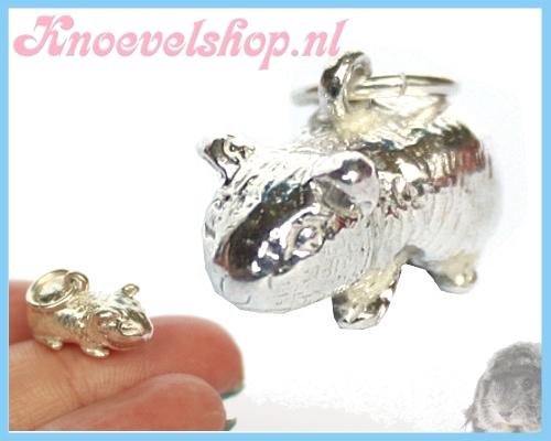 Zilveren caviahanger